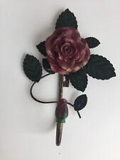 Vintage CBK Ltd. Rose Metal Wall Hook Decor