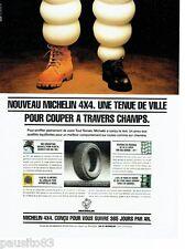 PUBLICITE ADVERTISING 116  1994  Michelin  pneus  pour 4x4