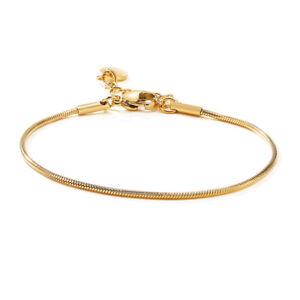 Women Snake Chain European Gold Bracelets Gold Plated Charm Pendant Snake Chain