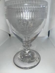 Large Early 19c Hand Blown Antique Rummer Drinking Glass