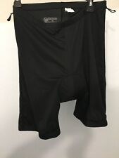 Canari Size Xl Unisex Padded Cycling Shorts Black with Yellow Pad Free Shipping