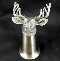 """Jagermeister Stag Shot Glass, Stainless Steel Metal Deer Cup, 4.5"""""""