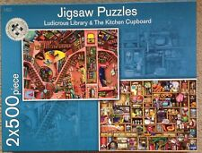 Ludicrous Library & The Kitchen Cupboard 2 x 500 Piece Jigsaws