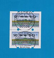 Paar Letzttags-Vollstempel Nr. 2.2.3 Posthorn-Logo schneeweiße Fluoreszenz