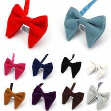 Men Solid Color Velvet Oversized Bowtie Wedding Party Tuxedo Business Bow Tie