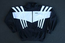 Vintage Adidas Athletic Track Jacket Size M Black Running Sports Soccer