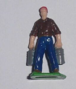 1//32nd Scale Ertl Big Farm Country Farmer figurine white shirt brown bibs