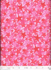 Quilters Spectrum - Pink Stars - NEW Quilt Fabric - Free Shipping - 1 Yard