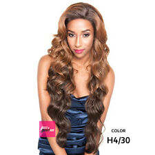 """BS610 - Isis Brown Sugar Human Hair Style Mix Silk Lace Wig 4""""X4"""" Lace Front"""