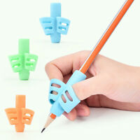 Random Two-Finger Grip Silicone Kid Baby Pen Pencil Holder Help Learn Writing