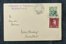 1917 Elbassan Albania Austria Hungry Military Fieldpost Postcard Cover Overprint