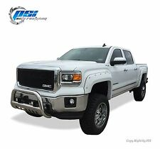 BLACK PAINTABLE Pocket Rivet Bolt Fender Flares 14-15 GMC Sierra 1500 FULL SET