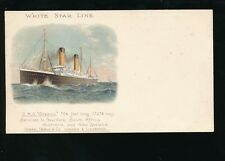 Shipping White Star Line RMS OCEANIC  Steamer c1902 chromo u/b PPC