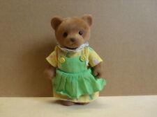 Simba Bärenwald Bär Mama gelbes Kleid grüne Schürze weiße Rüschen 11,5 cm 004