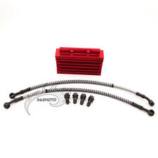 CNC Red Cooling Radiator Oil Cooler For Dirt Bike 125cc 140cc YX Lifan Zongshen