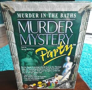 MURDER IN THE BATHS MYSTERY DINNER PARTY GAME NEW AND SEALED