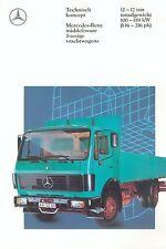 Mercedes 2-assige vrachtwagen 12-17 t Prospekt NL 10/89 1989 brochure Lkw