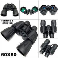Day/Night 60x50 Black Military Army Zoom Binoculars Optics Hunting Camping