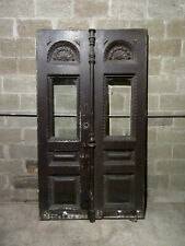~ Amazing Antique Carved Cherry Double Entrance French Doors ~ 47.5 X 83 Salvage