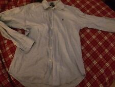 Baby Blue Striped Ralph Lauren Long Sleeve Button Down Shirt