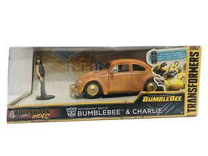 Jada Transformers Bumblebee & Charlie 1:24 Scale New Hollywood Rides New