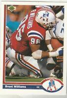 FREE SHIPPING-MINT-1991 Upper Deck #268 Brent Williams Patriots PLUS BONUS CARDS