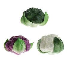 3 Pcs Artificial Lifelike Fake Vegetable Broccoli Decoration Props Model