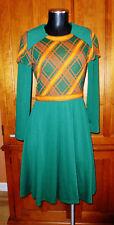 Vtg 60s Bonwit Teller Knit Jersey Secretary Kawaii Scooter Dress Jeannene Booher