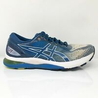 Asics Mens Gel Nimbus 21 1011A714 Blue Gray Running Shoes Lace Up Size 10