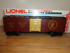LIONEL O GAUGE # 6-9466 WANAMAKER RAILWAY LINES BOX CAR AND BOX
