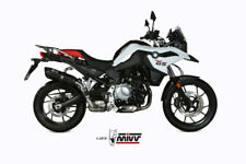 EXHAUST BMW F 850 GS 2018 MIVV SUONO STEEL BLACK SILENCER