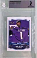 Lamar Jackson 2018 Panini NFL Sticker #15 Rookie BGS 9 Mint