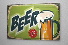 Tin Sign Beer Nostalgic 10 cents