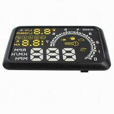 "HUD KMH MPH Voltage Speed Warning System W02 5.5"" Car OBDII OBD2 Head Up Display"