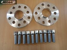 VW Audi Alloy MTEC Hubcentric Wheel Spacers 5x100/112 57.1 15mm + OE Bolts