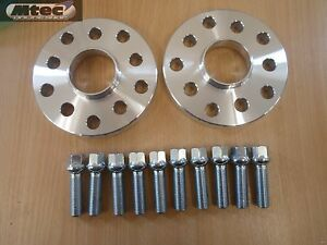 VW Audi Alloy MTEC Hubcentric Wheel Spacers 5x100/112 57.1 15mm + OE Bolts UK