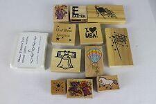 Rubber Stamp Set American Flag Lot Of 11 Patriotic, Easter, Horse, Flower
