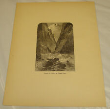 1875 Antique Print of WRECK AT DISASTER FALLS, GRAND CANYON AREA