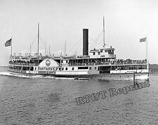 Photograph of the Sidewheeler Steamship Nantasket Year 1906 8x10