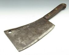 Antique 1800s Vtg H. F. Heacock Philadelphia Pa Primitive Butchers Meat Cleaver