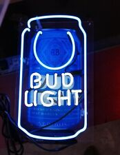 "New Bud Light Can Neon Light Sign Lamp Beer Pub Acrylic 14"" Artwork Glass Decor"