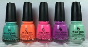 5 China Glaze Nail Polish SUNSATIONAL Collection Spring Summer MUST HAVE Lacquer