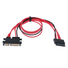 SATA 22Pin (7+15) Male to SATA 13Pin Female Power Extension Wire Cable 16""