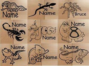 Personalised Vivarium Sticker - Reptiles - Gecko,Bearded Dragon,Tortoise,Snake &