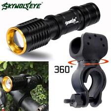 5000LM Q5 LED Cycling Bike Head Light Lamp 14500/AA Flashlight + 360° Mount Clip