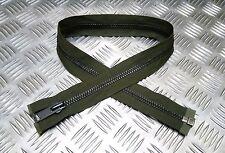 "Genuine British Military YKK 29"" Open End Green Metal Zip / Zipper H Duty ZPM18"