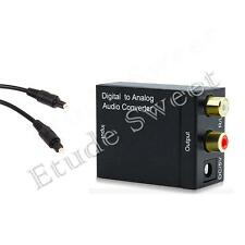 Digital Optical Coaxial Coax to Analog RCA L/R Audio Adapter Converter Toslink