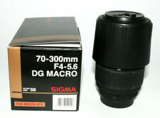 Sigma 70-300mm f4-5.6 DG Macro Lens for Nikon AF D, w/Caps & Original Box