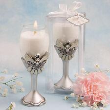 25 Angel Champagne Flute Candle Holders Baptismal Communion Wedding Favors