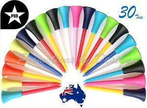 30 Best Quality 86MM Plastic & Rubber Golf Tees Durable & Multi-Colors FREE POST